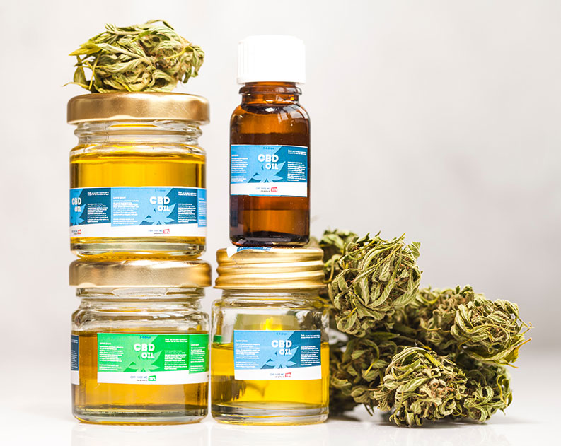 cannabis buds and cbd oils